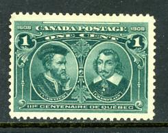 "-Canada-1908-""Quebec Centenary""  MNH(**) - Unused Stamps"