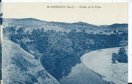 SAINT AMBROIX -vallée De La Cèze (carte Bleutée) - Saint-Ambroix