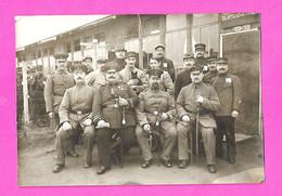 Ww1 Camp De Prisonniers Erfurt 1916 Poilus PG 5 Cp-Photos & Photos Dont Hautpman & Feldwebels Avec Sabre - Documents