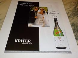 ANCIENNE PUBLICITE POUR LES MARIAGES KRITER 1997 - Alcolici