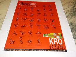 ANCIENNE PUBLICITE A KRO BATES  BIERE KRONENBOURG 1997 - Alcolici