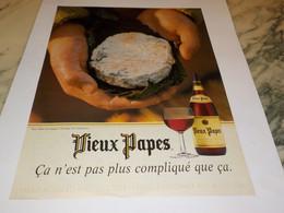 ANCIENNE PUBLICITE VIN VIEUX PAPES 1997 - Alcolici