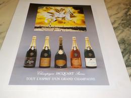 ANCIENNE PUBLICITE ESPRIT D UN GRAND  CHAMPAGNE JACQUART 1990 - Alcolici