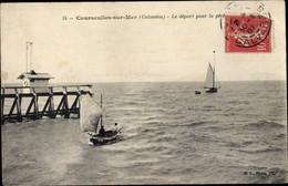 CPA Courseulles Sur Mer Calvados, Le Depart Pour La Peche - Other Municipalities