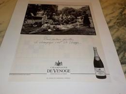 ANCIENNE PUBLICITE CHAMPAGNE DE VENOGE 1990 - Alcolici