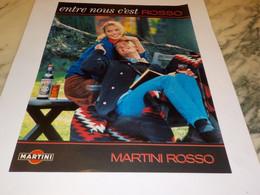 ANCIENNE PUBLICITE ENTRE NOUS C EST ROSSO  MARTINI  1990 - Alcolici