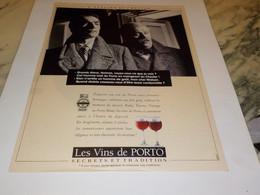 ANCIENNE PUBLICITE LES VINS DE PORTO  1990 - Alcolici