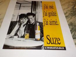 ANCIENNE   PUBLICITE OSE GOUTE AIME SUZE 1990 - Alcolici