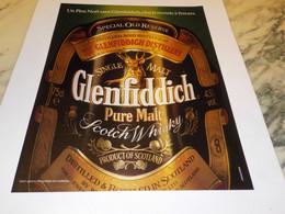 ANCIENNE PUBLICITE  UN PERE NOEL WHISKY GLENFIDDICH 1990 - Alcolici