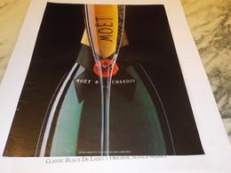 ANCIENNE  PUBLICITE CHAMPAGNE MOET 1990 - Alcolici