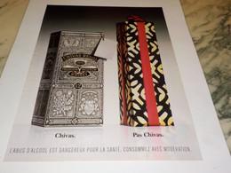 ANCIENNE PUBLICITE UN CHIVAS REGAL 1995 - Alcolici