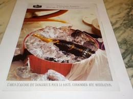ANCIENNE PUBLICITE CHAMPAGNE POMMERY 1995 - Alcolici