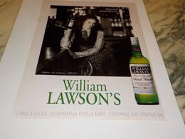 ANCIENNE PUBLICITE ECOSSAIS ASSUREMENT WILLIAM LAWSON S 1995 - Alcolici