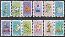 2021 FRANCE Adhesif 2001-12 Oblitérés ,petit Prince, Série Complète - Adhesive Stamps