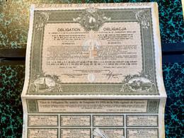 EMPRUNT  4 1/2% 1931  De  La  VILLE  CAPITALE  De  VARSOVIE ---------- Obligation  De  284 Frs - Unclassified