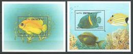 Erythree Eritrea 2000 Michel Bloc 236 ** + Bloc 239 ** Poissons Fish Pesci - Eritrea