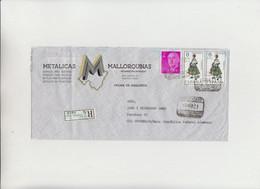 Palma De Mallorca  To Offenbach/ Main ( Rèpublica Federal Alemana ) Cover Raccomandata 1971 - 1971-80 Storia Postale