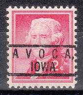 USA Precancel Vorausentwertungen Preos, Locals Iowa, Avoca 801 - Precancels