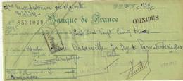 60-Chèque Omnibus Banque De France Succursale Compiègne..1966 - Cheques En Traveller's Cheques