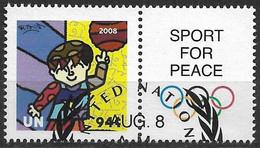 2008 UNO NY  Mi. 1102 Used   Sport Für Frieden - Olympische Sommerspiele, Peking - Gebraucht