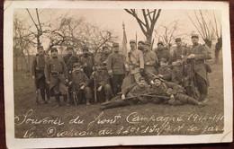 Cpa Photo, Militaria, Souvenir Du Front Campagne 1914-1917, Drapeau Du 249 è RI Et La Garde, Photo Papier Guilleminot - Guerre 1914-18