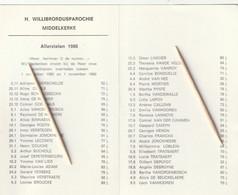 Middelkerke, 186, Vanhooren, Tratsaert, Verschelde, De Nockere, Van Lier, Meert, 2 Scans - Santini