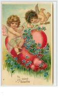 N°3225 - To My  Sweet Valentine - Deux Angelots Avec Un Coeur - Dia De Los Amorados