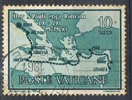 1961 - VATICANO - VIAGGIO DI SAN PAOLO DA CESAREA  / JOURNEY OF SAINT PAUL FROM CESAREA - USATO / USED. - Usati