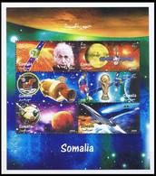 Somalie / Somalia** - Albert Einstein - Appolo 11 - Concorde - Satelite - Football - Fisica