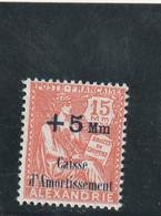 Alexandrie Yvert  81 * Neuf Avec Charnière   - 2 Scan - Unused Stamps