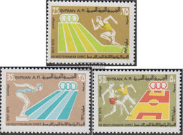 Syria 1448-1450 (complete Issue) Unmounted Mint / Never Hinged 1979 Mediterranean Games Split - Syrien