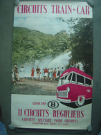 Affiche 62 X 100 Cm - 1959 - SNCB - Cascade De Coo - Posters