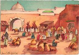 Marrakech - Caravane Du Sud Sur Le Marché Aux Blés - Illustrateur Henri Noizeux - Barre & Dayez - Marrakesh