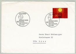 Schweiz / Helvetia 1967, Brief Union Geodäsie / Geodesy, Geophysik / Geophysics Zürich - Lyss - Fisica