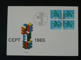 FDC Bloc De 4 Europa 1965 Suisse Ref 100836 - FDC