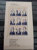 Estados Unidos. 1986. Ameripex 1986. Nuevo ** - Blocks & Sheetlets