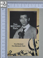 POSTCARD - YVES MONTAND -  LP'S COLLETION -   2 SCANS  - (Nº45305) - Music And Musicians