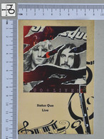 POSTCARD - STATUS QUO -  LP'S COLLETION -   2 SCANS  - (Nº45320) - Music And Musicians