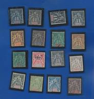 Ets FRANCAIS DE L'OCEANIE 16 Timbres Type Et Paix  Voir Scann - Used Stamps