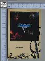 POSTCARD - VAN HALEN -  LP'S COLLETION -   2 SCANS  - (Nº45324) - Music And Musicians