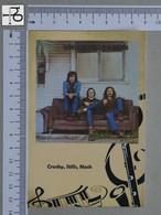 POSTCARD - CROSBY, STILLS, NASH -  LP'S COLLETION -   2 SCANS  - (Nº45329) - Music And Musicians