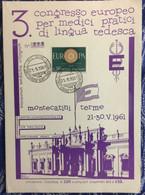 ITALIA   :  EUROPA CEPT 1961 First Day  250ex / 3° Congres For German Language - Lotti E Collezioni