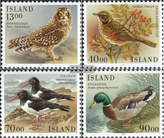 Iceland 668-671 (complete Issue) Unmounted Mint / Never Hinged 1987 Birds - Neufs