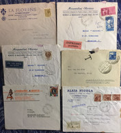 ITALIA   :  6x LETTERS   TAXE / EXPRESS / AIrmail / Registred With AR / Lions Club - Verzamelingen