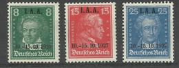 Deutsches Reich 407/409 (*) NG - Unused Stamps