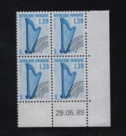 FRANCE  Coin Daté **   N° Yvert Préo 202  29.05.89  Neuf Sans Charnière CD - Vorausentwertungen