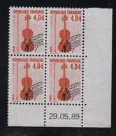 FRANCE  Coin Daté **   N° Yvert Préo 205  29.05.89  Neuf Sans Charnière CD - Vorausentwertungen
