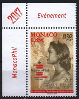 Monaco 2017. Grace Kelly, American Star - MonacoPhil Stamp Exhibition MNH. - Unused Stamps