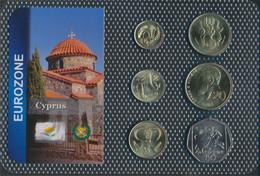 Zypern 2004 Stgl./unzirkuliert Kursmünzen 2004 1 Cent Bis 50 Cents (9648495 - Chipre