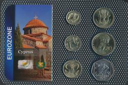 Zypern 2004 Stgl./unzirkuliert Kursmünzen 2004 1 Cent Bis 50 Cents (9648496 - Chipre